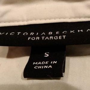 Victoria Beckham Tops - Victoria Beckham White Poplin Gathered Waist Top